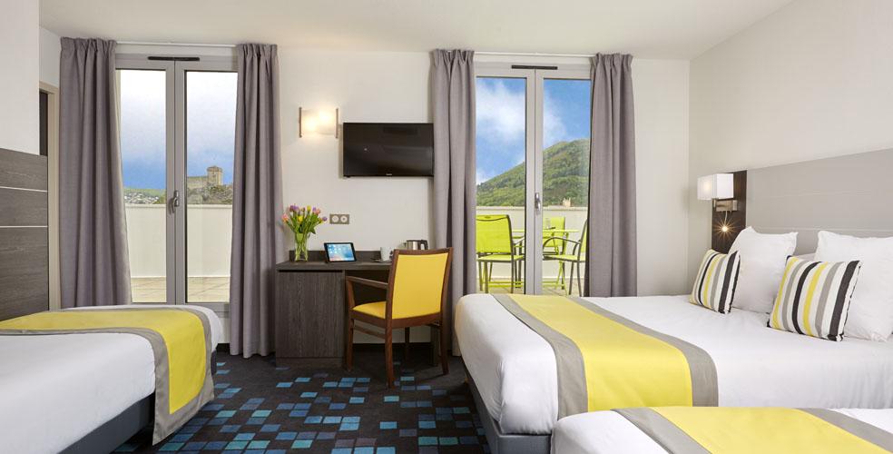 hotel astrid lourdes 3 bett zimmer