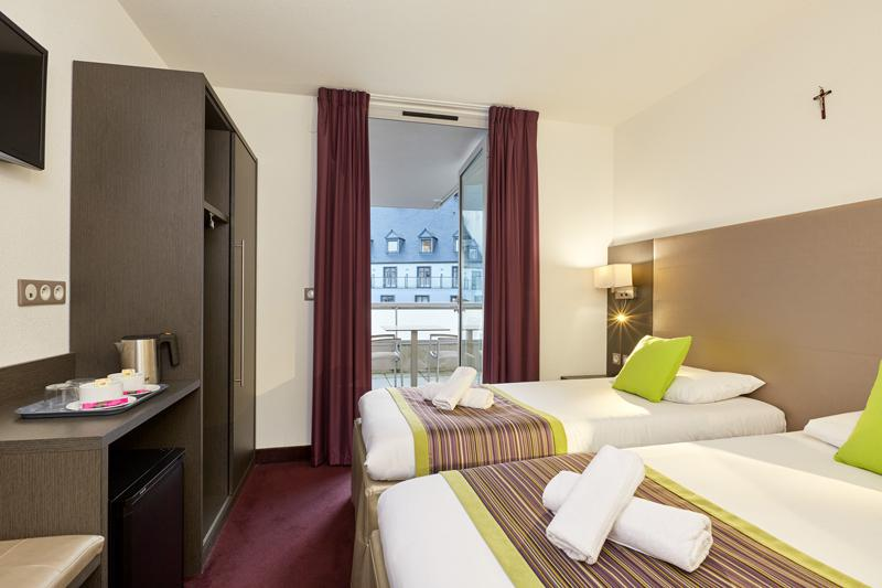 Chambre Double Superieure Balcon Hotel Astrid Lourdes