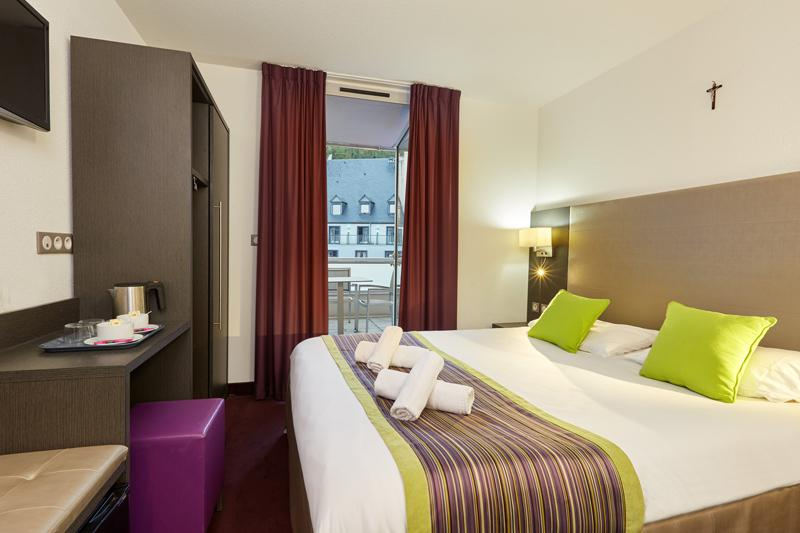 Hotel astrid Lourdes chambre double balcon