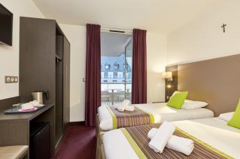 Chambre 2 lits Hotel Lourdes